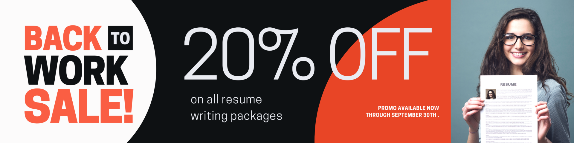 20% of all resume packages